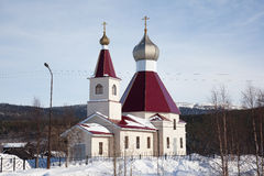 The new building of the Orthodox Church Stock Photography
