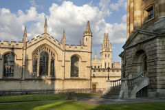 The New Building of Oxford Magdalen College, Royalty Free Stock Image