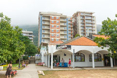 New building Petrovac in Montenegro stock images
