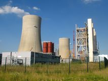 New building of a power station. New building of a brown coal fired power station Stock Images