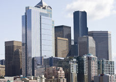 New Building in Seattle Royalty Free Stock Photography