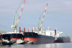New building ship. In shipyard, in japan Royalty Free Stock Photography