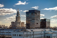 New building in Stalin style Royalty Free Stock Photos