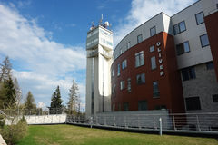 New building with tower. Stock Image
