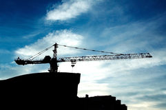 New building under construction. On the sky background Royalty Free Stock Image