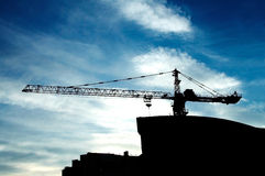 New building under construction. At sky background Royalty Free Stock Image