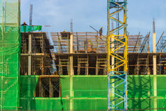 The new building is under construction. The building is in Bangkok, Thailand Stock Photo