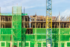 The new building is under construction Royalty Free Stock Photo