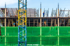 The new building is under construction Royalty Free Stock Image