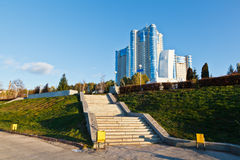 New Building on Volga River in Samara Royalty Free Stock Photo