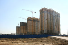 New buildings. Construction of multi-family buildings Royalty Free Stock Photo