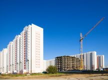 New buildings. On blue sky background Stock Images