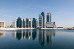New buildings in Abu Dhabi City Royalty Free Stock Photos