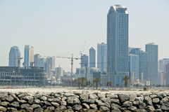 New Buildings as Skyscraper in Dubai,  United Arab Emirates Stock Photography