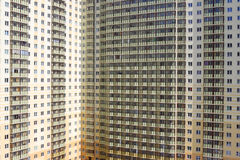 New buildings in the city. High-rise housing.The problem of overpopulation Royalty Free Stock Image