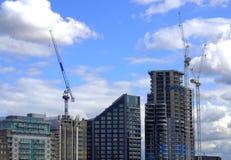 New buildings construction London Stock Photo