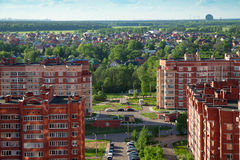 New buildings and cottage village. Balashikha, Russia Royalty Free Stock Images