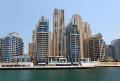New buildings at Dubai Marina Royalty Free Stock Photo