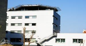 New buildings of the hospital complex of Santa Creu and Sant Pau Stock Images