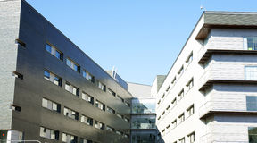 New buildings of the hospital complex of Santa Creu and Sant Pau Royalty Free Stock Image