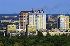 New buildings in Kiev. New buildings at the left side of  Kiev Royalty Free Stock Photos