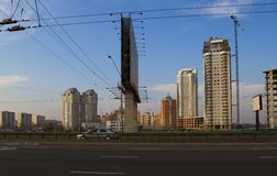 New buildings in Kiev Royalty Free Stock Photography