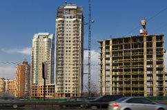 New buildings in Kiev Royalty Free Stock Image