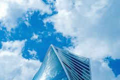 New buildings modern business center. New majestic buildings modern business center Moscow-city. Multifunction complex Evolution. Russia, Moscow Stock Images