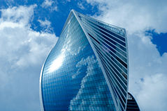New buildings modern business center. New majestic buildings modern business center Moscow-city. Multifunction complex Evolution. Russia, Moscow Stock Image