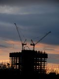 New buildings in Moscow. Construction. Royalty Free Stock Photography