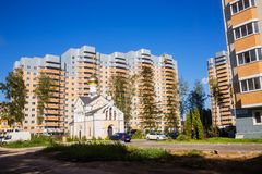 New buildings Moscow suburbs in Russian - Village Nekrasovskiy o Stock Photo