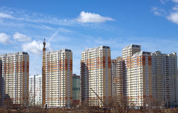 New buildings over blue clear cloudless sky Stock Photography