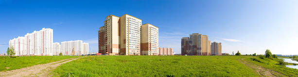 New buildings panorama. Russia Moscow region Stock Image