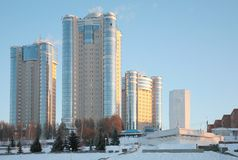 New buildings in Samara in winter 2 Stock Image