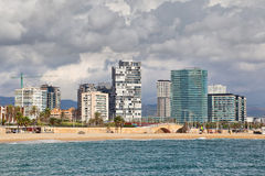 New buildings at Sant Marti district, Barcelona Stock Photos
