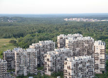 New buildings in suburb in Vilnius Stock Photography