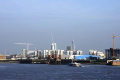 New buildings on the Thames Stock Image