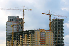 New buildings are under construction Royalty Free Stock Image