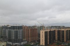 New buildings. View of new buildings on the outskirt of Saint Petersburg Royalty Free Stock Photo