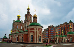New buildings in Yoshkar-Ola. The newly built Orthodox Church in Yoshkar-Ola Stock Image