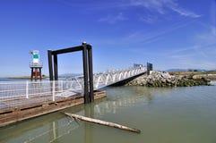 New Built alloy aluminium bridge Royalty Free Stock Images