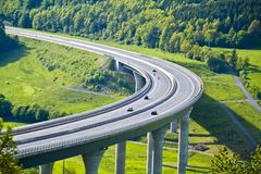 New built highway bridge in Bavaria, Germany royalty free stock photos