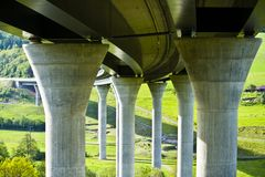 New built highway bridge in Bavaria, Germany royalty free stock photo
