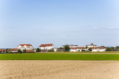 New built housing area in beautiful Stock Photo