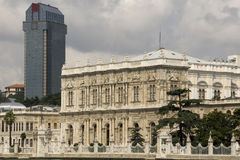New bulding and Dolmabahçe Palace - Istanbul Stock Photo