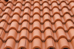New bulgarian roof tiles Royalty Free Stock Photo