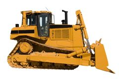 New Bulldozer side view Stock Photos