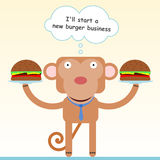 New burger business Royalty Free Stock Image