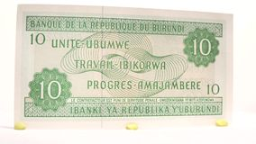 New Burundian 10 Franc stock video