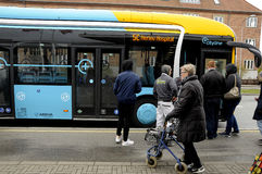 NEW BUS CITY LINE 5C Royalty Free Stock Photography